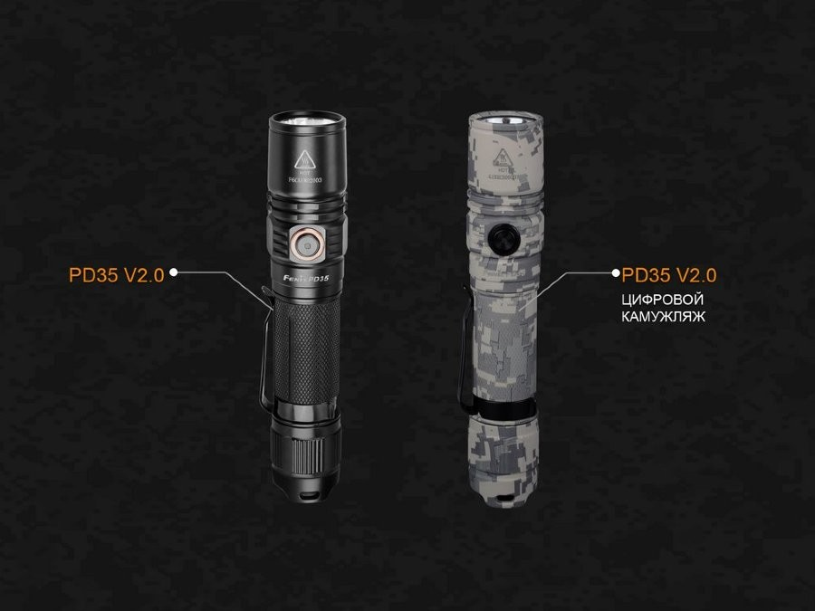 Фонарь Fenix PD35 V2.0 UCP Digital Camo Edition