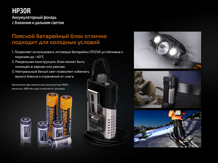 Фонарь Fenix HP30R Cree XM-L2 & XP-G2 LED's